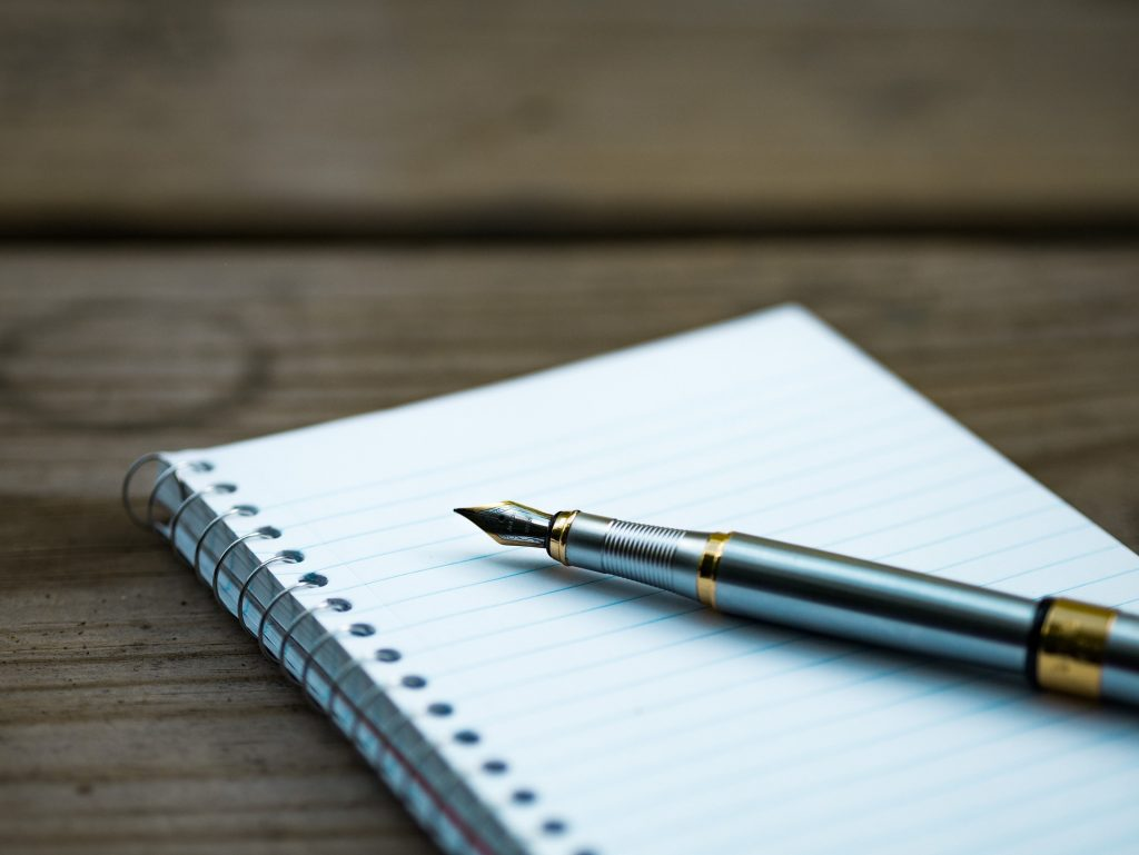 Pen and Notepad