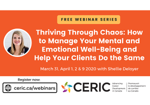 Free webinar series to help career professionals thrive through chaos