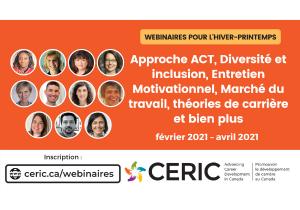 Le CERIC publie le calendrier complet des webinaires hiver/printemps 2021 : diversité et inclusion, entretien motivationelle, apprentissage par l'expérience et plus encore