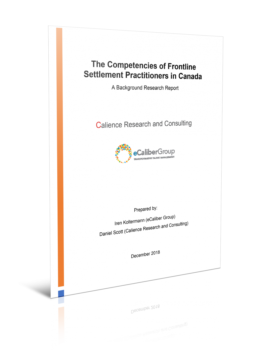 The Competencies of Frontline Settlement Practitioners in Canada: A Background Research Report